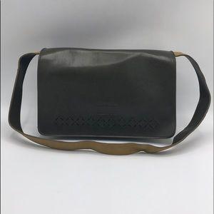 Mondani Simulated Perforated Leather Shoulder Bag